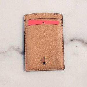 KATE SPADE Flapper Pink Polly Credit Card Holder